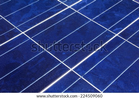 close up of photovoltaic power generation - stock photo