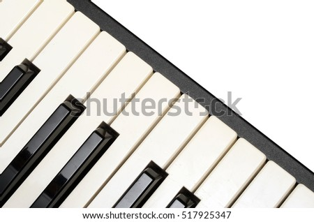 Close up of Piano and electric piano keyboard