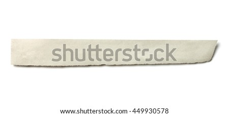 close up of piece of news paper on white background
