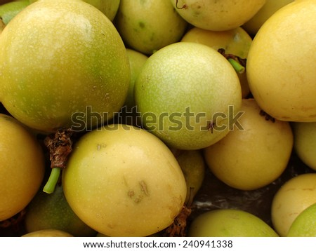 Close-up of Pile of Passion Fruit  - stock photo