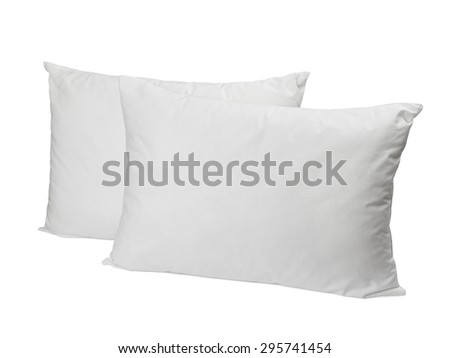 close up of pillow on white background - stock photo