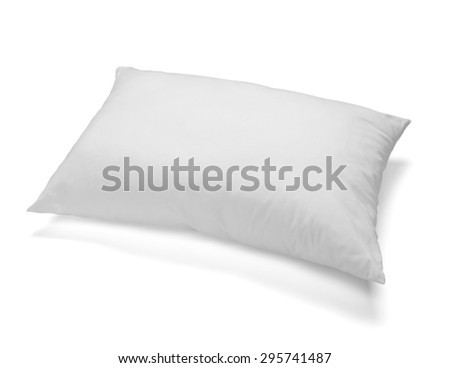 close up of pillow on white background