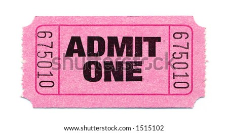 Close-Up of Pink General Admission Ticket