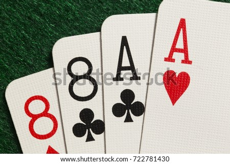 Poker hand aces and eights