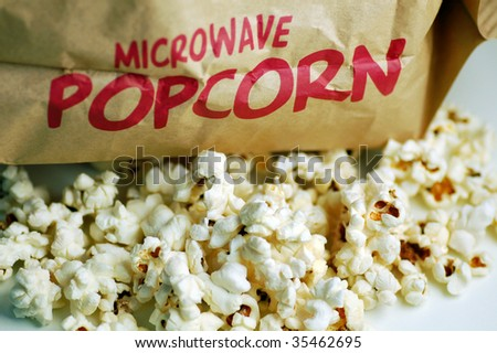 Close up of popcorn for microwave.