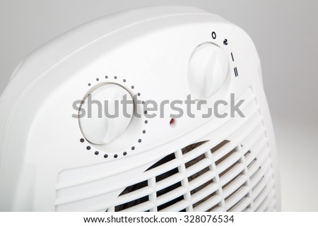 close up of portable electric heater - stock photo