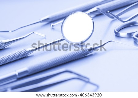 Close-up of professional dental tools