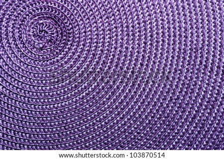 Close-up of purple food stands. The spiral structure. The top left. - stock photo