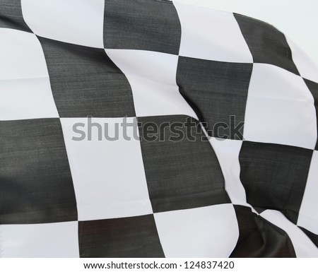 close-up of racing flag, background.