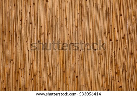 Close up of rattan texture wall
