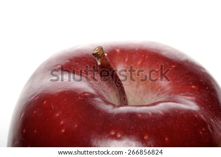 Close-up of red apple on white background - stock photo
