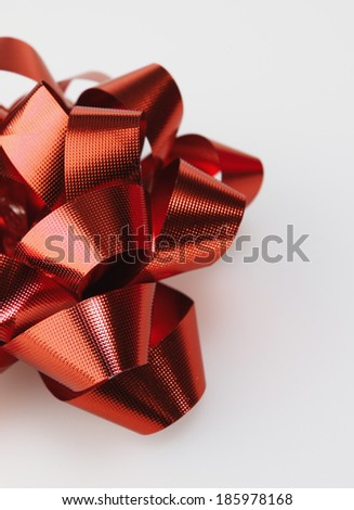 Close-Up of Red Bow