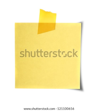 Close up of reminders on white background