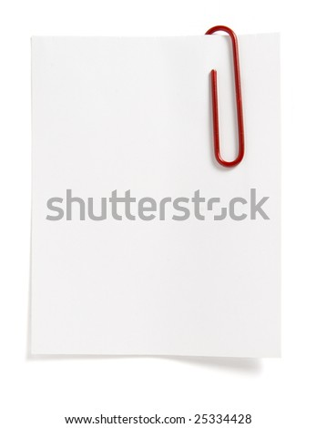 close up of reminders on white background with clipping path