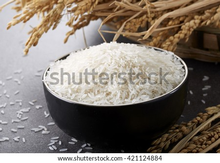 Close up of rice grain