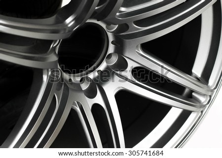 Close up of rims car alloy wheel. - stock photo