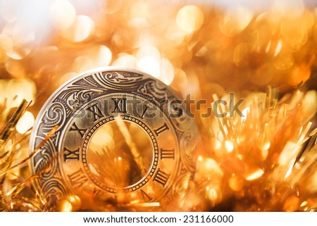 close up of roman numerals. marry christmas concept - stock photo