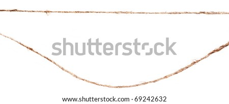 close up of rope part isolated on white background