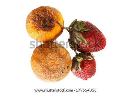 close up of rotten fruits
