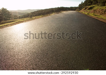 Close-up of rural roads - stock photo