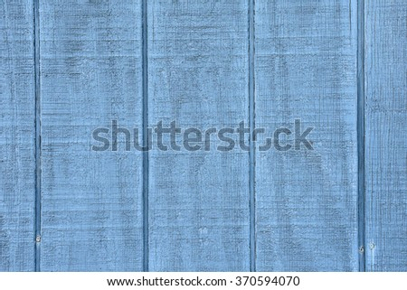 close up of rustic wood painted blue color - stock photo
