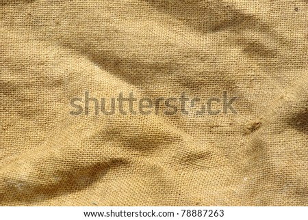 close up of sack texture - stock photo