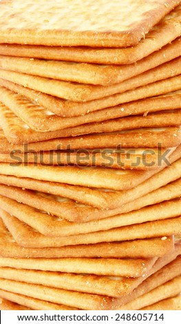 Close up of Salty Crackers, Pattern Crackers - stock photo