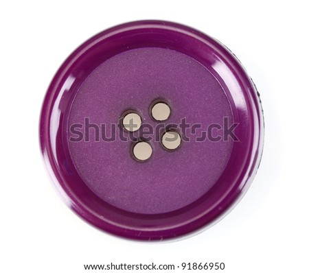 Close up of sewing button isolated on white - stock photo