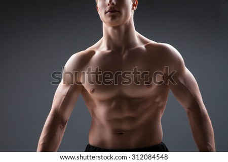Close up of sexy male's chest