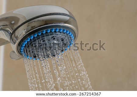Close up of Shower Head   Shower Head with running water in bathroom. Shower Head Stock Photos  Royalty Free Images  amp  Vectors   Shutterstock