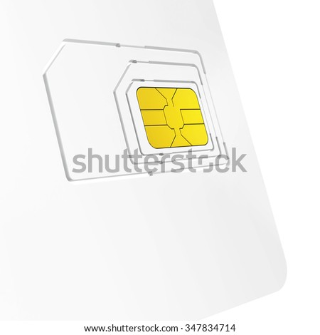close-up of sim card starter kit on white background