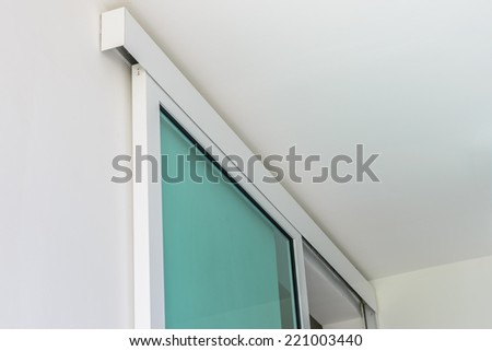 close up of slide door