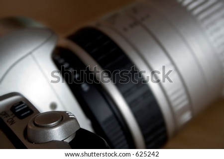 close up of slr camera
