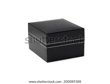 Close up of small black box. - stock photo