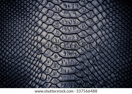 close up of snake skin texture use for background - stock photo