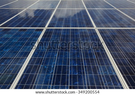 Close up of Solar Panel - stock photo