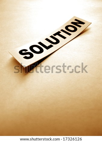 Close up of Solution tag