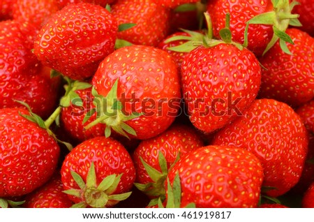 Close up of some red ripe strawberry, DOF