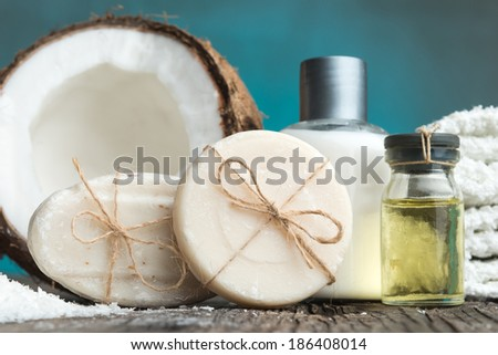 Close up of Spa setting - stock photo