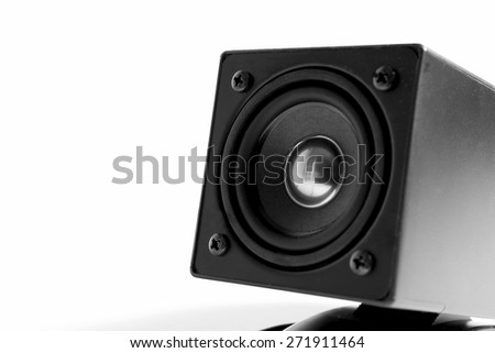 close up of speaker isolated