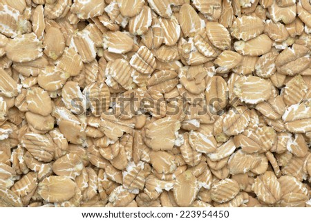 Close-up of  spelt flakes for a breakfast - stock photo