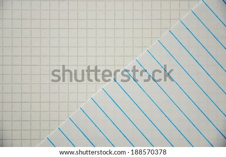 close up of square sheets in paper