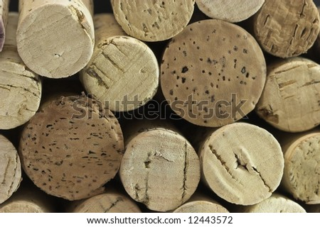 Close up of stack of corks - stock photo