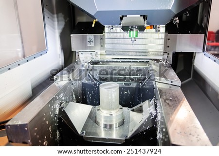 close up of stainless steel and aluminum machine