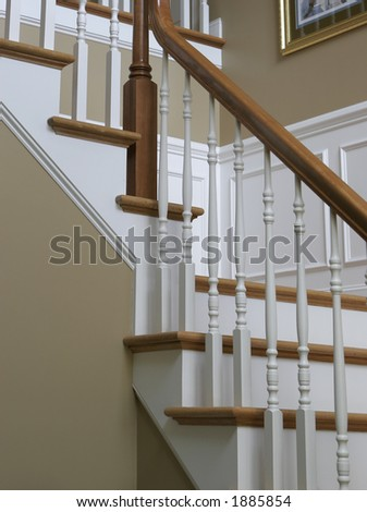 close up of stairs - stock photo