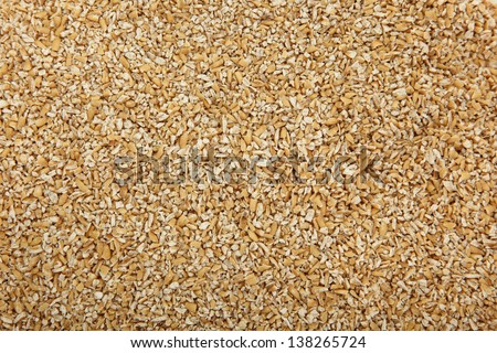 Close Up Of Steel Cut Irish Oatmeal - stock photo