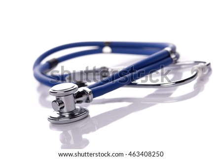 Close Up of Stethoscope. Concept for medical or healthy