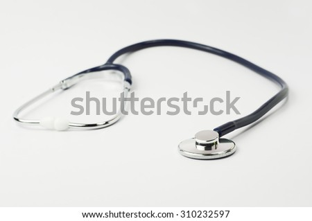 Close up of Stethoscope isolated on white background