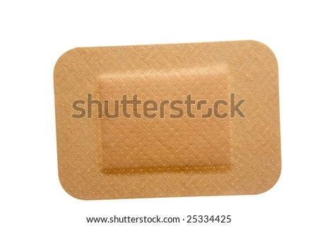 close up of sticking plasters on white background with clipping path - stock photo