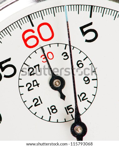 Close-up Of Stopwatch - stock photo